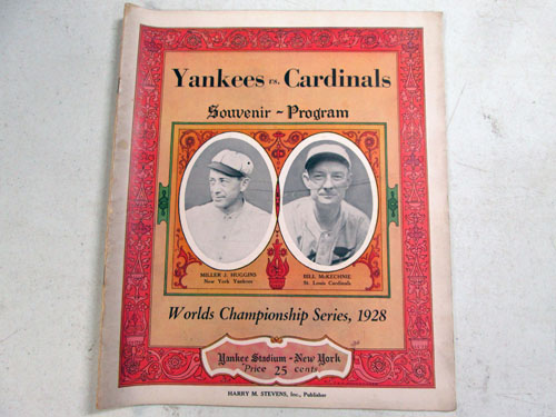 image 1 of an incredible sports memorabilia collections with world series programs and tickets