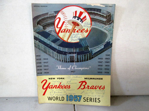image 30 of an incredible sports memorabilia collections with world series programs and tickets