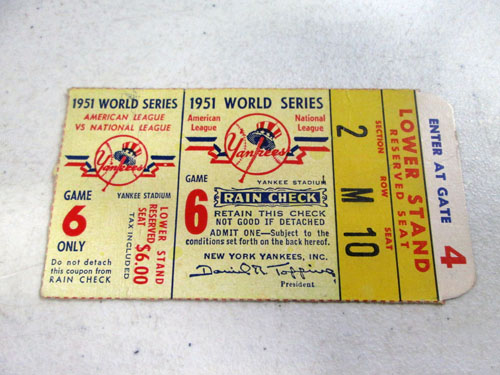 image 42 of an incredible sports memorabilia collections with world series programs and tickets