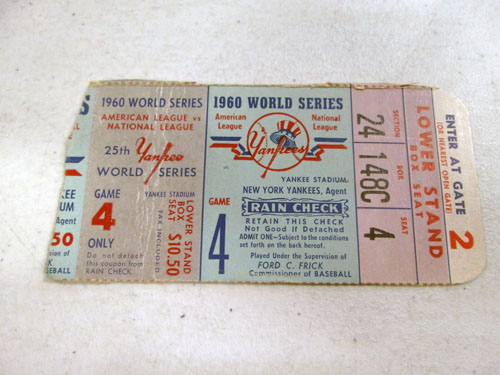 image 46 of an incredible sports memorabilia collections with world series programs and tickets