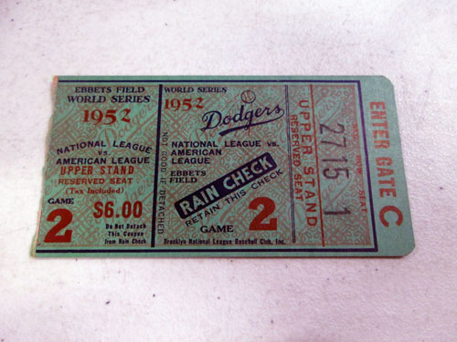 image 51 of an incredible sports memorabilia collections with world series programs and tickets