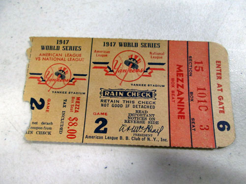 image 52 of an incredible sports memorabilia collections with world series programs and tickets